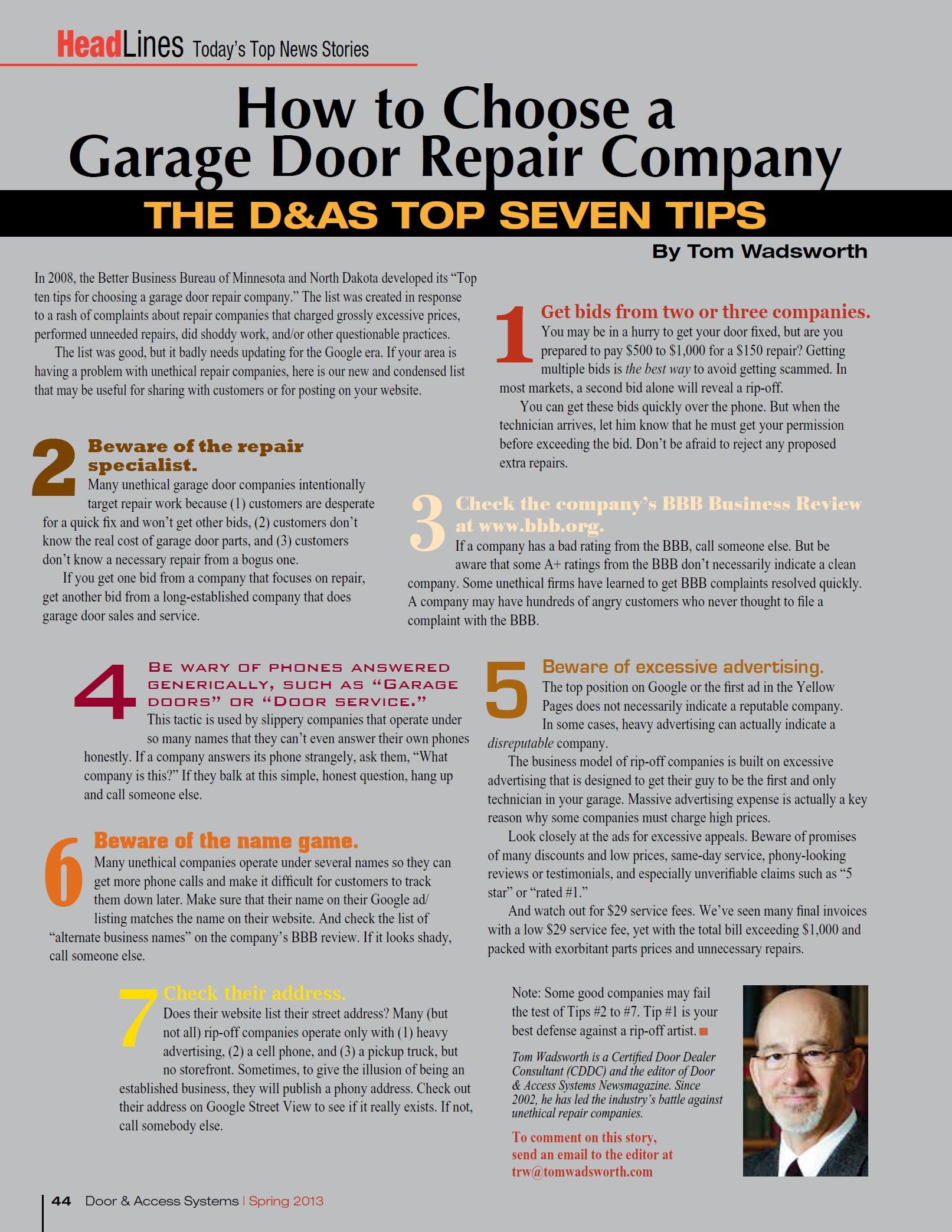 How to choose a garage door repair company (2)